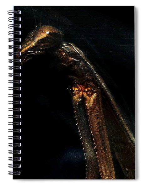 Armored Praying Mantis Spiral Notebook