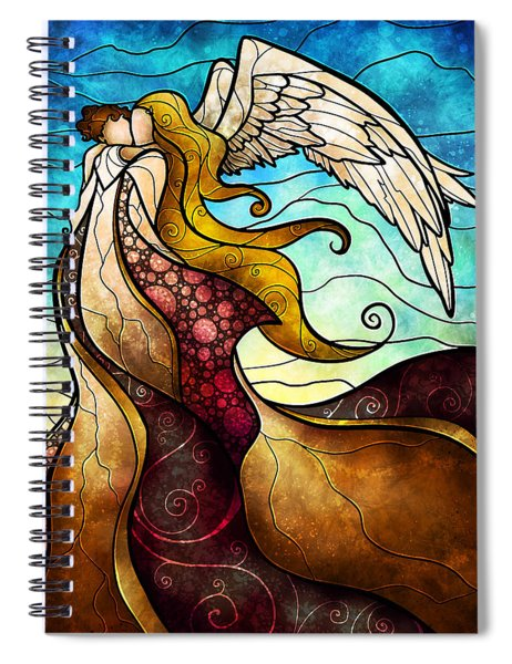 Arms Of The Angel Spiral Notebook