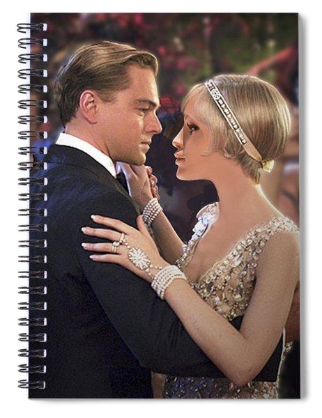 Art Deco Ball  Spiral Notebook