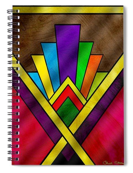 Art Deco Pattern 7v Spiral Notebook