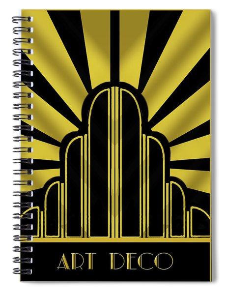 Art Deco Poster - Title Spiral Notebook