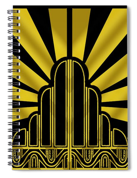 Art Deco Poster - Two Spiral Notebook