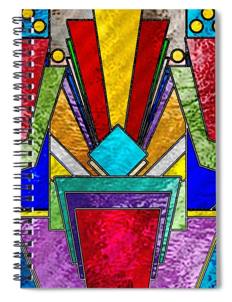 Art Deco - Stained Glass 6 Spiral Notebook