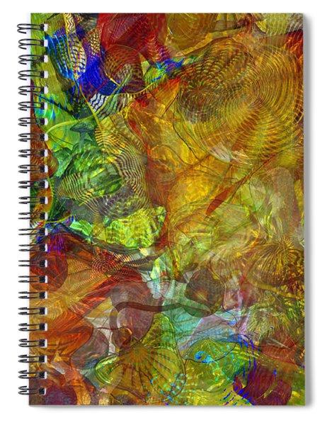 Art Glass Overlay Spiral Notebook