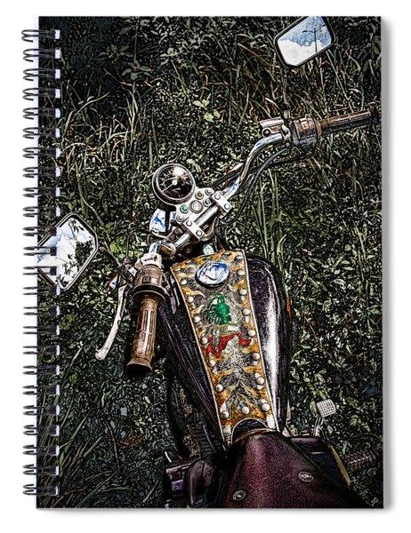 Art In The Weeds Spiral Notebook