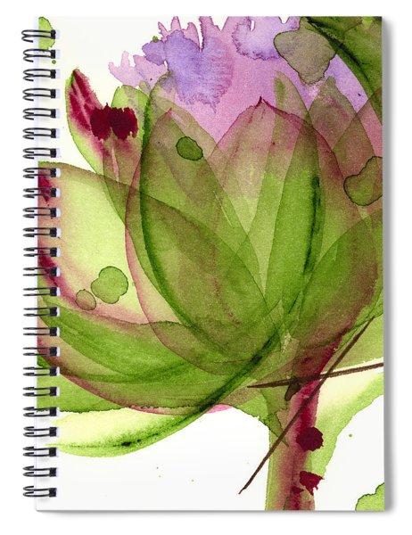Artichoke Flower Spiral Notebook