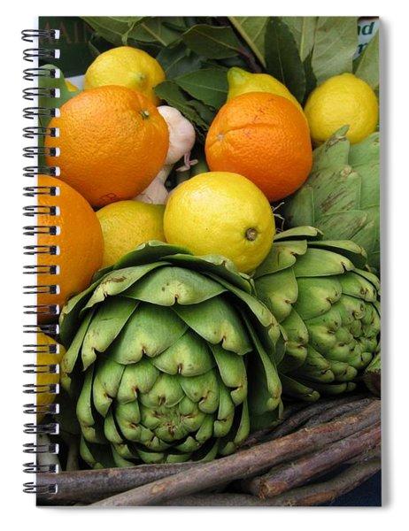 Artichokes Lemons And Oranges Spiral Notebook