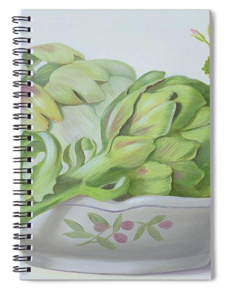 Artichokes Spiral Notebook