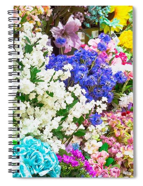Artificial Flowers Spiral Notebook