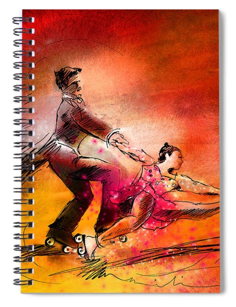 Artistic Roller Skating 02 Spiral Notebook