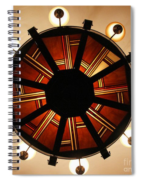 Arts And Crafts Chandelier At Summit Inn Spiral Notebook