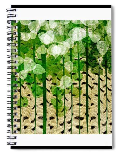 Aspen Colorado Abstract Square 2 Spiral Notebook