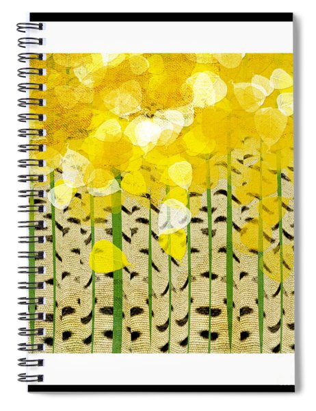 Aspen Colorado Abstract Square Spiral Notebook