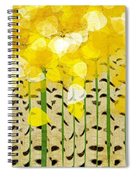 Aspen Colorado Abstract Square Spiral Notebook