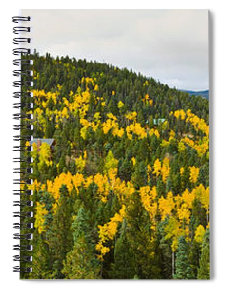 Aspen Hillside In Autumn, Sangre De Spiral Notebook