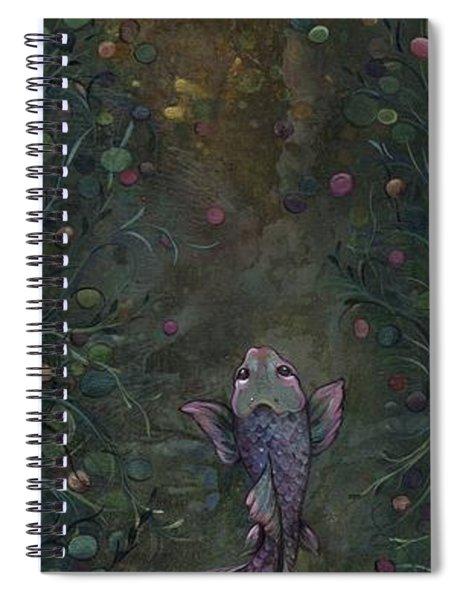 Aspiration Of The Koi Spiral Notebook