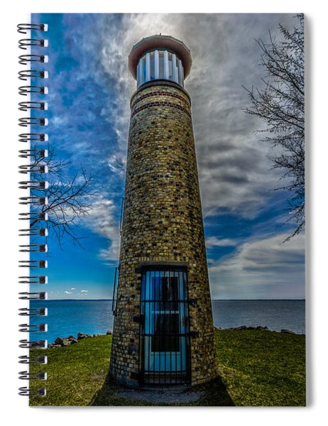 Asylum Point Lighthouse Spiral Notebook