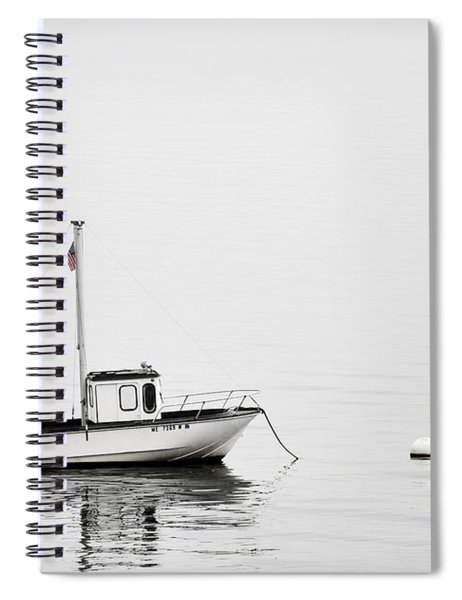 At Anchor Bar Harbor Maine Black And White Spiral Notebook
