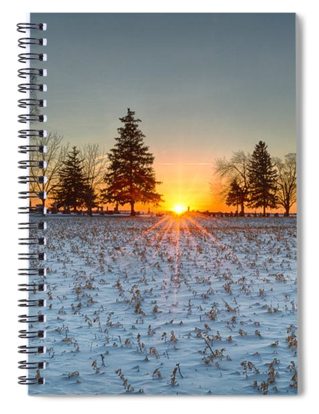 Spiral Notebook featuring the photograph At First Light by Garvin Hunter