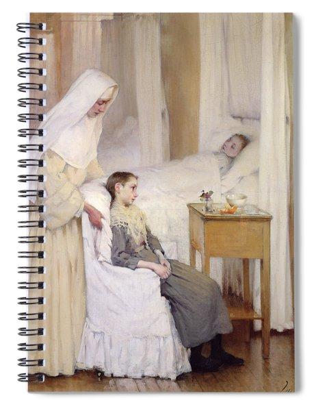 At Notre-dame Du Perpetuel Bon Secours Hospital Spiral Notebook