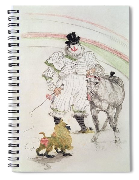 At The Circus Performing Horse And Monkey, 1899 Chalk, Crayons And Graphite Spiral Notebook