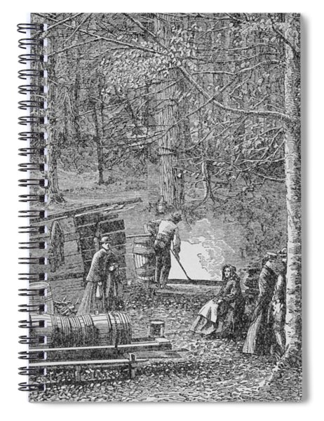 At The Maple Syrup Camp Spiral Notebook