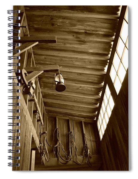At The Museum - Sepia Spiral Notebook