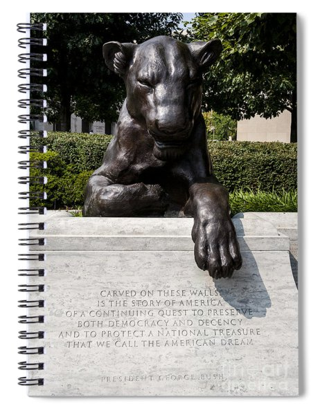 At The National Law Enforcement Officers Memorial In Washington Dc Spiral Notebook
