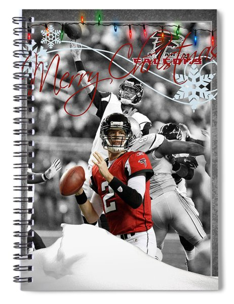 Atlanta Falcons Christmas Card Spiral Notebook