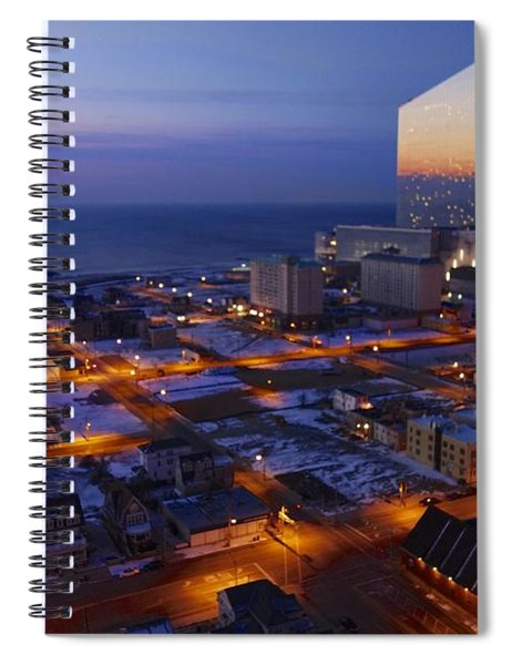 Atlantic City At Dawn Spiral Notebook