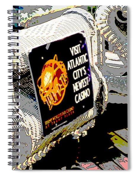 Atlantic City Nostalgia Boardwalk Rolling Chairs Spiral Notebook