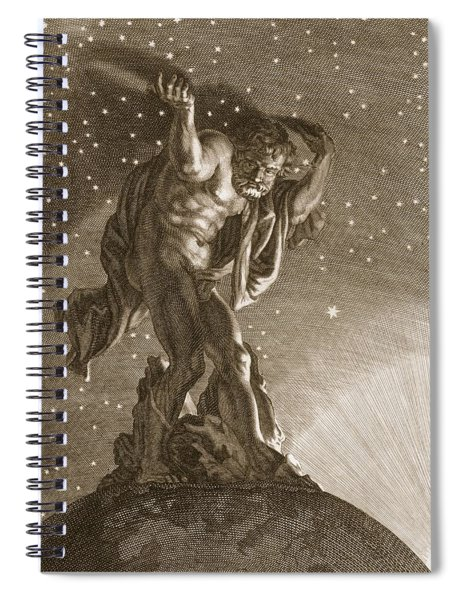 Atlas Supports The Heavens Spiral Notebook