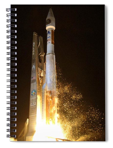 Atlas V Rocket Taking Off Spiral Notebook