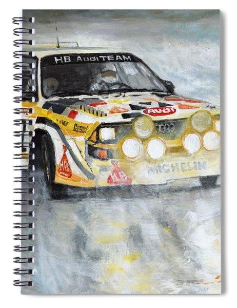 1985 Audi Quattro S1 Spiral Notebook
