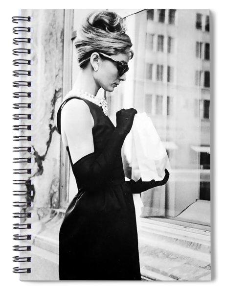 Audrey At Tiffanys Spiral Notebook