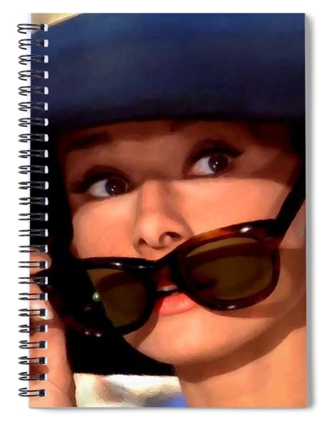 Audrey Hepburn @ Breakfast At Tiffany's Spiral Notebook
