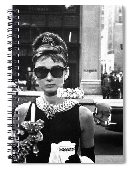 Audrey Hepburn Breakfast At Tiffany's Spiral Notebook