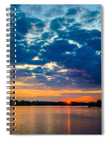 August Sunset Over Lake Nagawicka Spiral Notebook