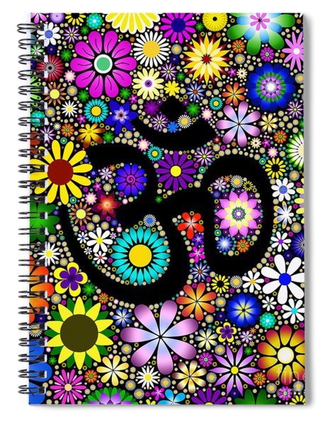Aum Flowers Spiral Notebook