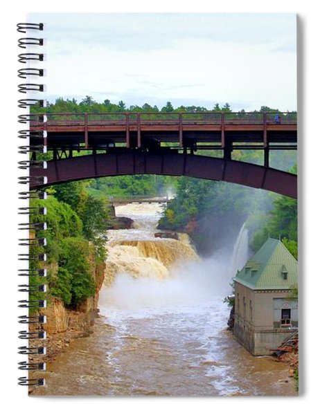 Spiral Notebook featuring the photograph Ausable River Bridge by Patti Whitten