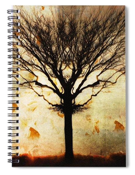 Autum Wind Spiral Notebook