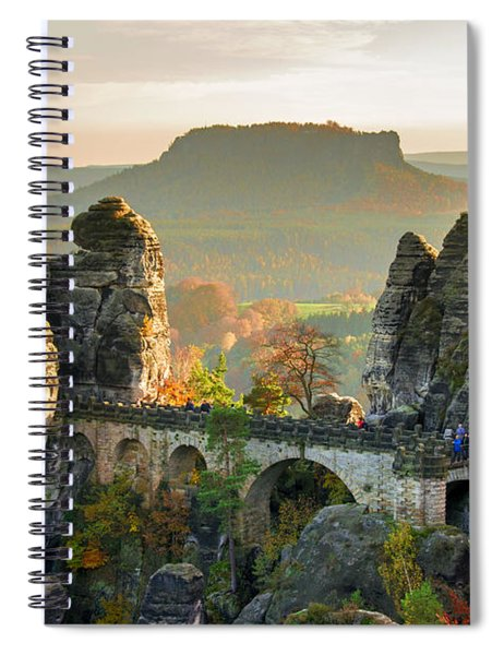 Autumn Afternoon On The Bastei Bridge Spiral Notebook