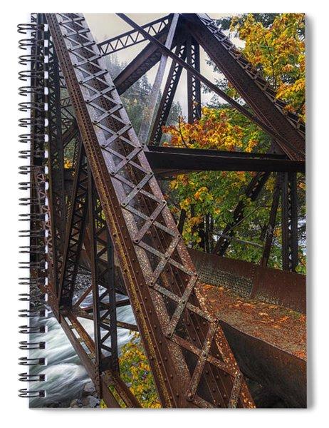 Autumn And Iron Spiral Notebook