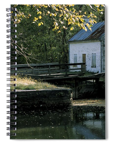 Autumn At The Lockhouse Spiral Notebook