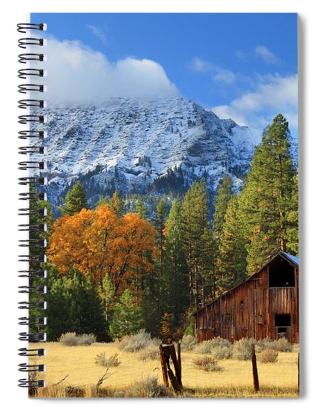 Autumn Barn At Thompson Peak Spiral Notebook