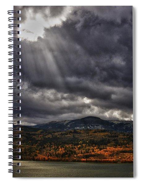 Autumn Beams Spiral Notebook