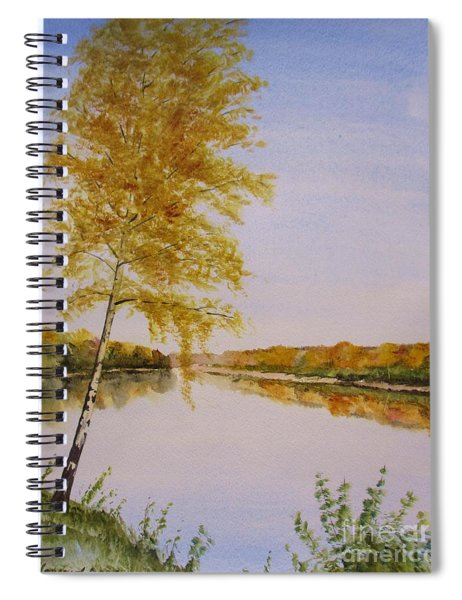Autumn By The River Spiral Notebook
