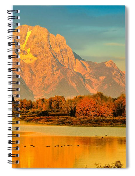 Autumn Dawn At Oxbow Bend Spiral Notebook