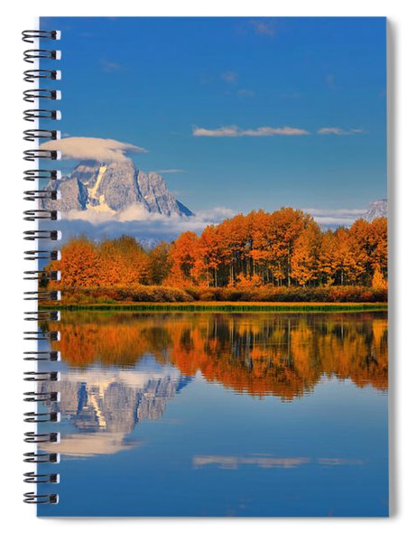 Autumn Foliage At The Oxbow Spiral Notebook