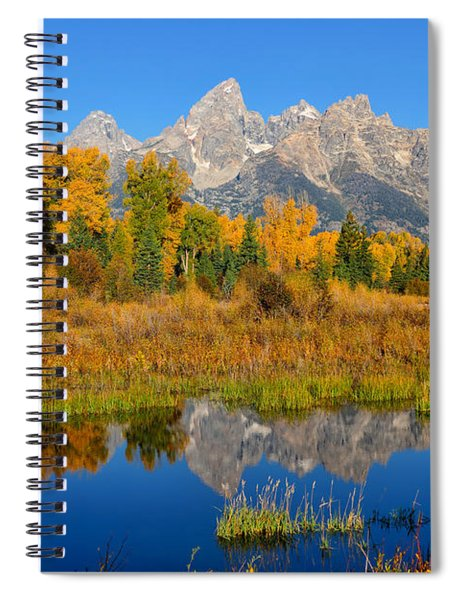 Autumn Glory In The Tetons Spiral Notebook